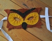 Owl Felt Mask, Realistic Animal Costume Mask