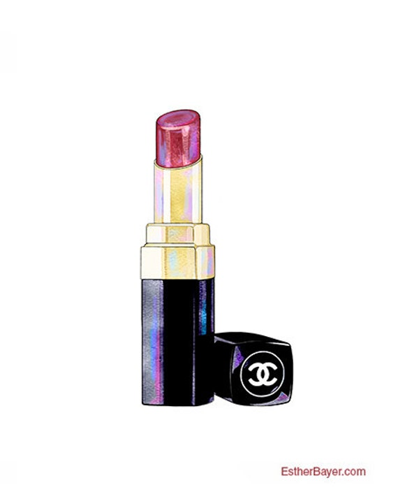 Coco Chanel Lippenstift : chanel lipstick colorful fashion illustration fine by ~ Watch28wear.com Haus und Dekorationen