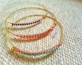 Ballroom Thieves guitar-string bangle bracelet - recycled material
