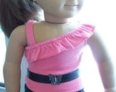 """American Girl 18 """" inch or other Doll Black faux leather Butterfly Belt Accessories"""