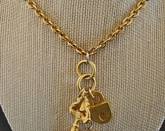 VINTAGE PLATED GOLD necklace