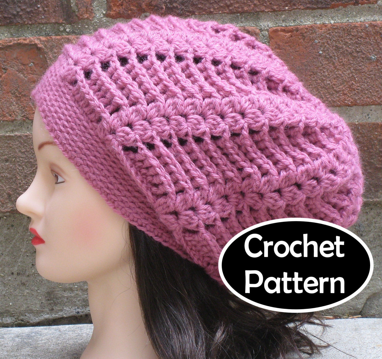 Crochet Hat Pattern Download : CROCHET HAT PATTERN Pdf Instant Download Gabrielle Slouchy