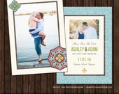 INSTANT DownloadPSD 5x7 Save The Date Announcement / Card Template - S3