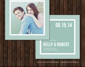 5x5 Save the Date Card Template - S14