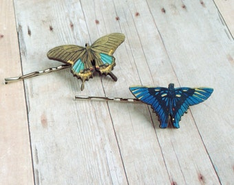 Blue Blue Butterfly Hair Accessory Fairy Barrette