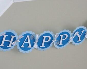Penguin Banner, Penguin Happy Birthday Banner, Winter Onederland Banner, Winter Onederland Birthday, Penguin Birthday, First Birthday,