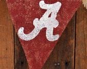 Burlap Banner for Univeristy of Alabama Football