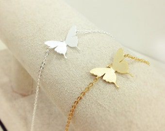 Butterfly Bracelet, Nature Jewelry, Simple everyday jewerly