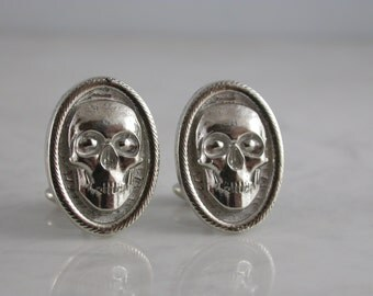 Skull Cufflinks (Sterling Silver, White Gold, Yellow Gold, Bronze)