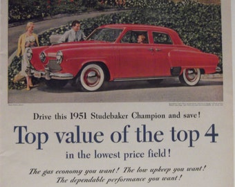 1951 Studebaker Champion Original Vintage Automobile