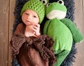Frog Hat, Newborn Frog Hat, Baby Frog Hat, Newborn Photography Props, Baby Animal Hats, Frog Costume, Baby Frog Costume, Props for Newborns