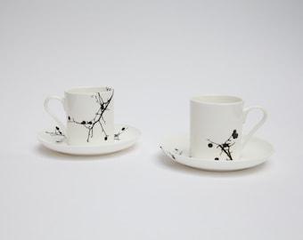 Twig Bone China Espresso Cup And Saucer Set