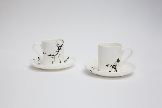 Twig Bone China Espresso Cup And Saucer Set