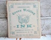 Antique Label, Authentic, Ephemera, 1800s, Green, Ink, Supplies, Props, Bottle Labels, Tags, Paper Labels, Office Supplies, All Vintage Man