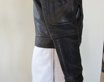White miniskirt, Boy Of London punk zipper mini, cotton, cool, authentic vintage early 80s, so awesome