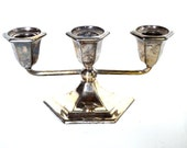 Vintage Antique Silver Candle Holder 1894 Forbes Silver Company Fall Mantle Decor