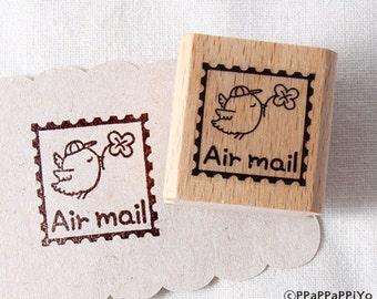50% OFF SALE Bird air mail Rubber Stamp