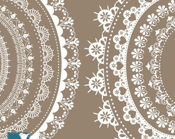 Oval Lace Frames - Digital Clipart / Scrapbooking - card design, invitations, paper crafts, web design - INSTANT DOWNLOAD