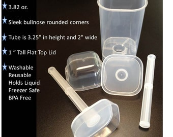 Square Shape Push Pop Containers 12 count