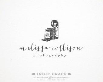 Custom PreDesigned / pre-made vintage camera logo for photography