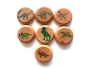 Dinosaur Yo Yo - Natural Wooden Toys - Birthday Party Favors - Dinosaur Toys - yoyo - Summer Travel Toys