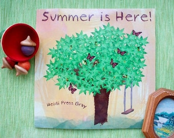 Summer is Here - Summer Reading List - Children's picture book about seasons - summer activities