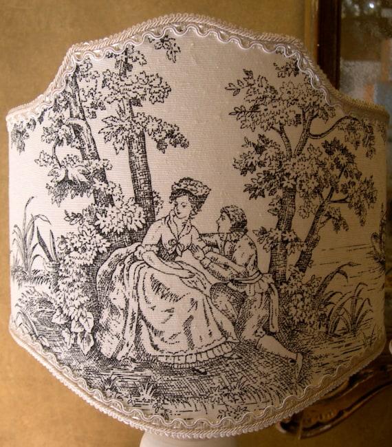 Items Similar To Half Lamp Shade Black Toile De Jouy