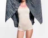 knit jacket coat cardigan cape sweater black merino wool silk THE KNIT KID theknitkid made in Germany Berlin knitwear design quality fashion