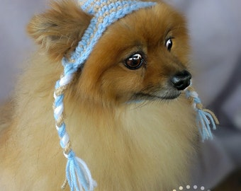 ANY Colors Striped or Plain Pet Hat (XS-XL)