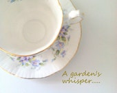 Vintage Tea Cup and Saucer by Paragon English Flowers Violet Pattern Cottage Style Tea Party Thank You or Housewarming Gift Inspiration