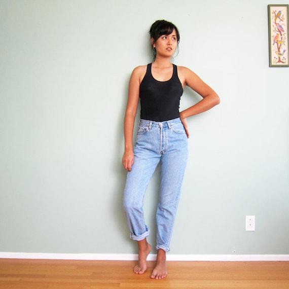 levis 501s boyfriend jeans 90s high waisted denim made in. Black Bedroom Furniture Sets. Home Design Ideas