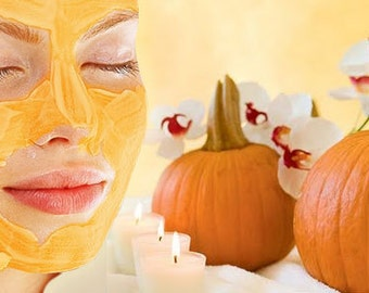 PUMPKIN Enzyme Glycolic Acid Facial Mask & Peel - Anti-Aging Face Mask - Glycolic Acid Face Peel - Moisturize Hydrate - Pineapple Mask Duo