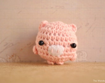 Items similar to Mouse kawaii charm, amigurumi keychain ...