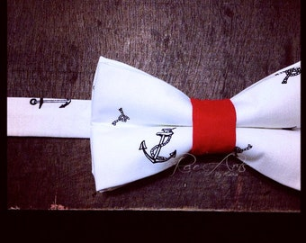 The Sailor in Red - Nautical Bow Tie
