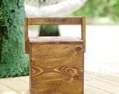 Beer - Igloo - Picnic Cooler - Insulated Carton - Wooden Cooler - Beer Cooler  - Rustic Wood Igloo - Bottle Opener