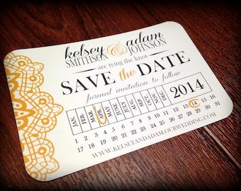 Calendar Save the Date Postcard, Printable File, DIY