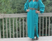 Teal Evening Gown by Miss Elliette