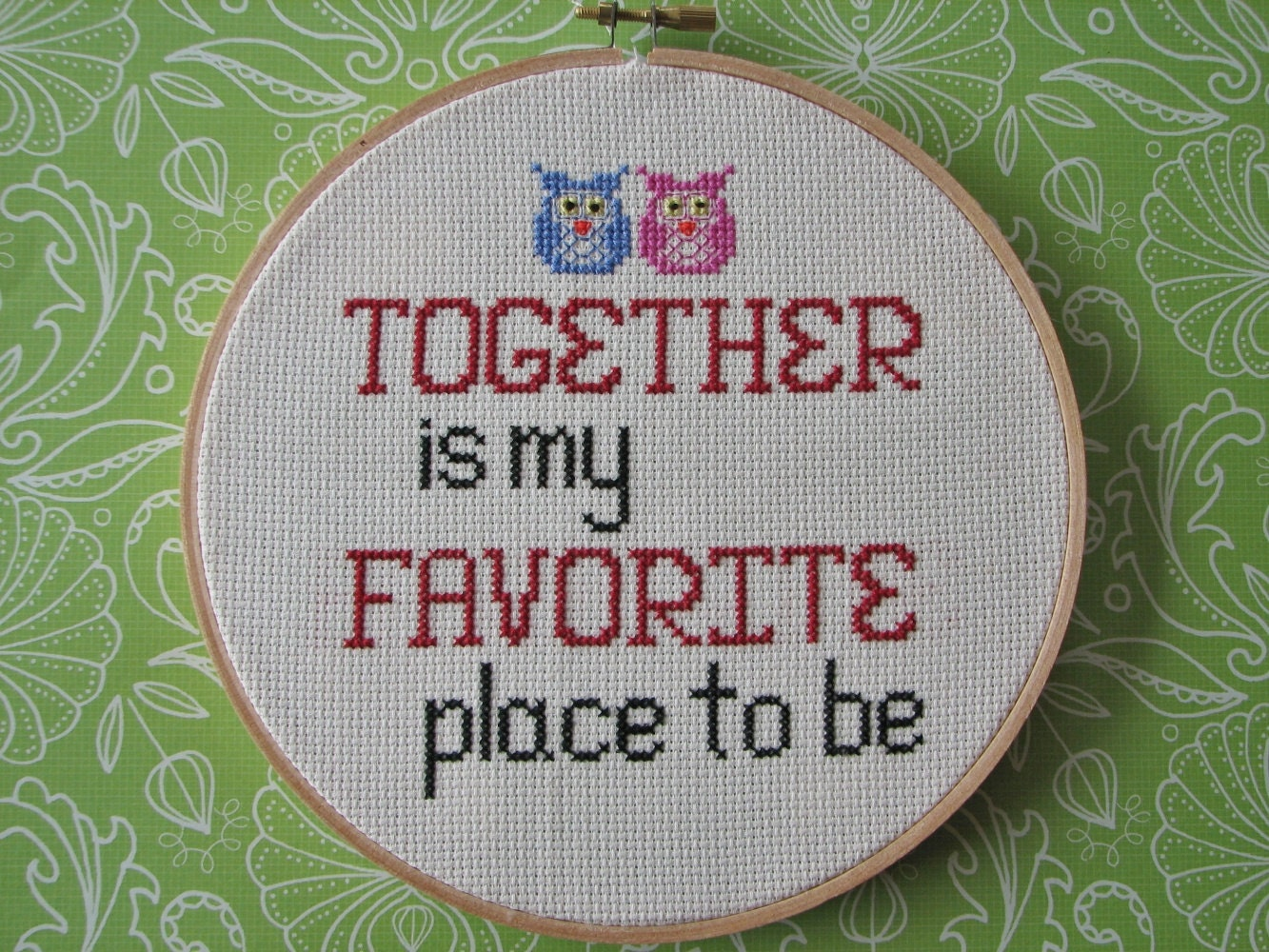 Cross Stitch Pattern Together Is My Favorite Place Immediate