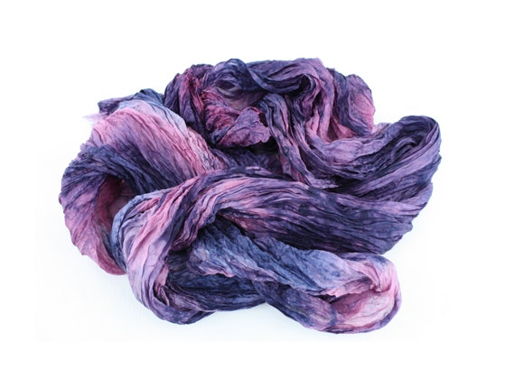 purple scarf - Venus Magic - pink, purple, blue, mauve silk scarf.