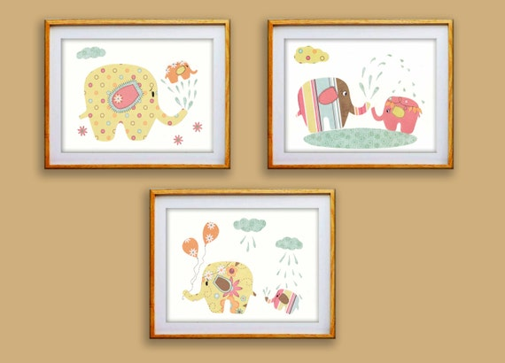 Nursery decor art prints baby shower baby wall art by for Baby shower wall mural