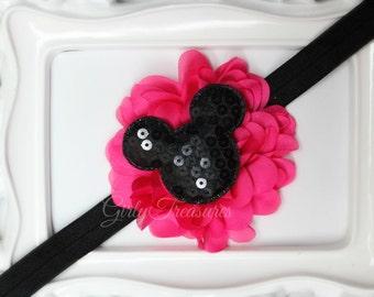 Disney Minnie Mouse Headband. Disney Headband. Baby Headband. Infant Headband. Girl Headband. Women Headband. Photo Prop.
