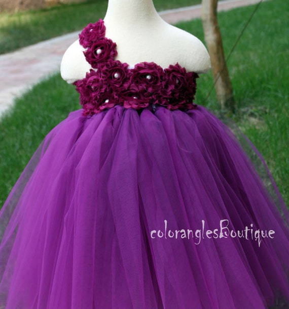Flower Girl Dress Plum purple tutu dress baby dress toddler
