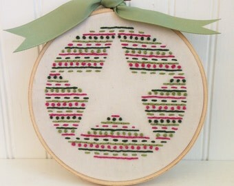 star hand embroidery pattern