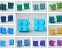 Peacock Themed Wedding Cufflinks With Lego Bricks - Pick Your Color Cufflinks - Groomsmen Cuff Links - Spring Wedding - Summer