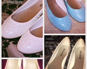 Blush Bridal Collection Glitter Wedding Flats