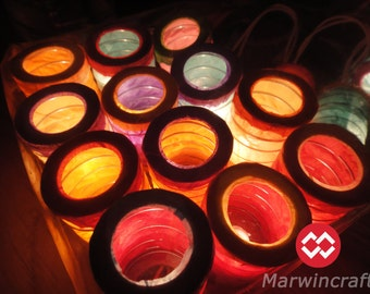 20,35 Japanese Zen Multi Color Lantern Fairy String Lights Patio Party Wedding Wall Floor Hanging Gift Home Decor