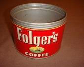 Vintage Folger's Coffee Tin