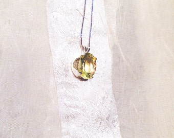 Luscious Lemon Quartz Necklace in Sterling Silver Handmade Jewelry