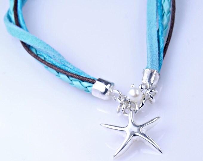 Starfish Bracelet,Gift for her, Bridesmaid Gift, Starfish Jewelry, Gift for Sister, Summer Bracelet, Best friend Gift