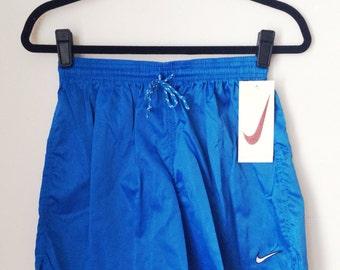 Deadstock Nike Blue Athletic Shorts Boys Size XL